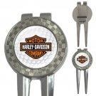 Harley Davidson Golf Ball 3-in-1 Golf Divot Repair Tool/Ball Mark/Money Clip