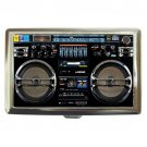Boombox Radio Lasonic Retro Silver Chrome Cigarette Money Case