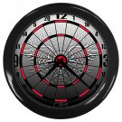 Harley Davidson Biker To The Bone Dartboard Black Wall Clock