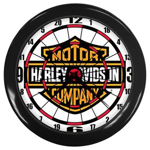 Harley-Davidson Dartboard Logo Black Wall Clock
