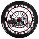Harley-Davidson Softail Heritage Softail Classic Dartboard Black Wall Clock