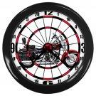 Harley Davidson FLSTC Heritage Softail Classic Dartboard Black Wall Clock