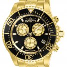 Invicta Men's Pro Diver Quartz Chronograph Black Gold Dial Watch
