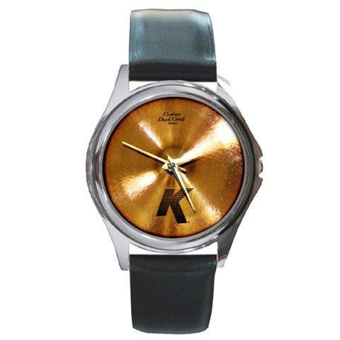 Zildjian K Custom 18inch Dark Crash Cymbal Style Round Metal Watch