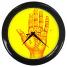 Vintage Palm Reading Chart Wall Clock Great Gift for Fans of the Occult, Supernatural & Astrology