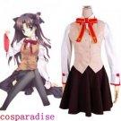 Fate Stay Night Homurabara Gakuen Girl's Uniform Cosplay Costume