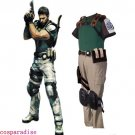 Resident Evil Chris Redfield Cosplay Costume