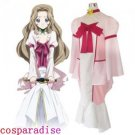 Code GeassLelouch of the Rebellion Nunnally Lamperouge Cosplay Costume