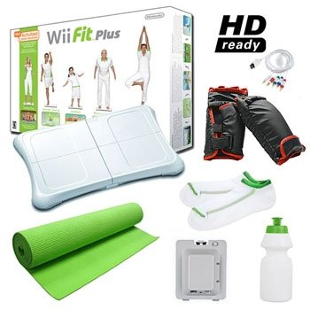 NINTENDO WII FIT PLUS MEGA HOLIDAY BUNDLE WITH ACCESSORIES