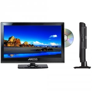 """AXESS TVD1801-15 15.4"""" LED AC/DC TV WITH DVD PLAYER FULL HD WITH HDMI, SD CARD READER AND USB"""