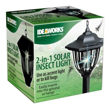 IDEAWORKS® 2-IN-1 SOLAR INSECT LIGHT