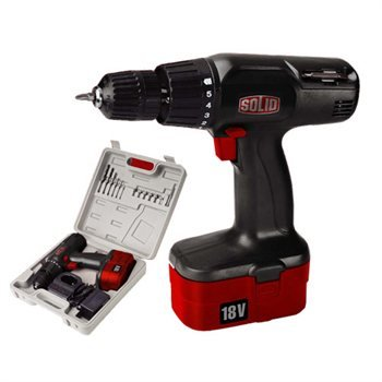 SOLID 18V CORDLESS DRILL AND DRIVER WITH RECHARGEABLE BA -CD-4-3671
