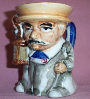 Vintage TOWN CRIER / LAMPLIGHTER Toby Jug, Made in Japan
