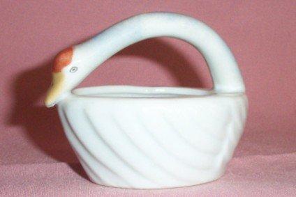 Vintage Small Ceramic SWAN ORNAMENT / DISH, Very Nice!