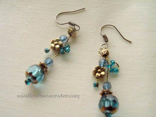 Blue Sky Bead Earrings