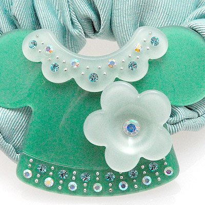 Green Floral Blouse Hairband