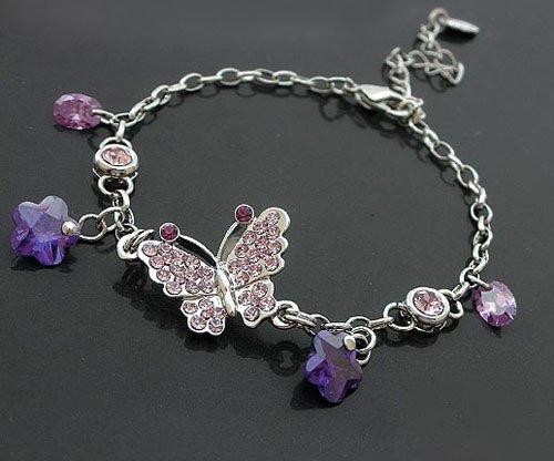 Charming Purple Butterfly Bracelet