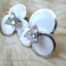 Elegant White Floweret Earrings