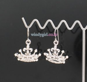Sparkling Crown Earrings