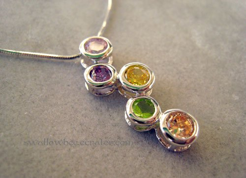 Colorful Bubbles Sterling Silver Necklace