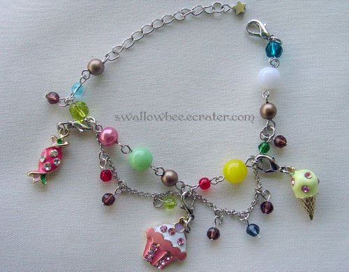 Cool Summer Ice Cream Charm Bracelet