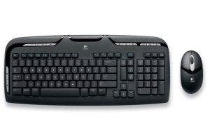 Logitech Cordless Desktop EX110 Keyboard and Optical Mouse Combo