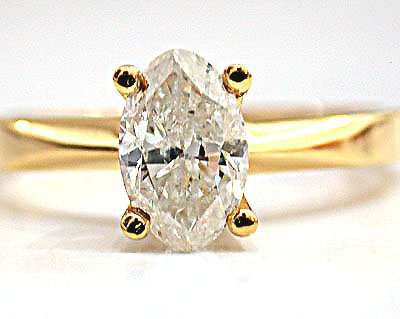 1.01ct Oval Diamond Solitaire Ring