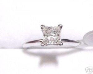 1.01ct Princess Diamond Solitaire Engagement Ring