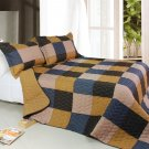 ONITIVA-QTS01013-23[Antique Chic] Cotton 3PC  Patchwork Quilt Set (Full/Queen Size)