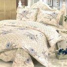 QTS-SJ577-23[Spring Temptation] 100% Cotton 3PC Floral Patchwork Quilt Set (Full/Queen Size)