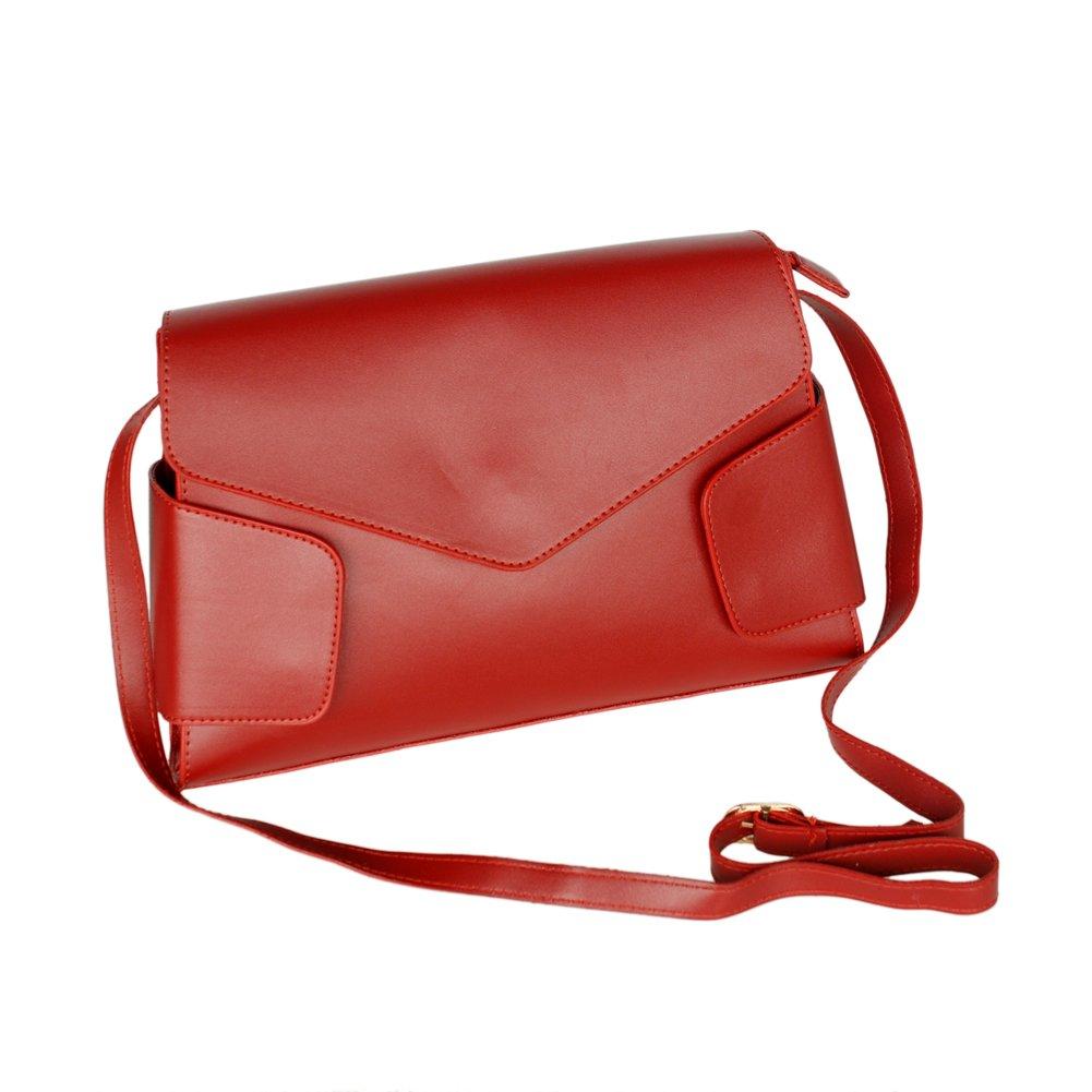 FB-JY145-RED[Retro Wine-colored] Classic Double Handle Leatherette Handbag Shoulder Bag Satchel Bag