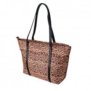 FB-HKD470-COFFEE[Functional Leopard] Coffee Handbag Shoulder Bag Satchel Bag Styling