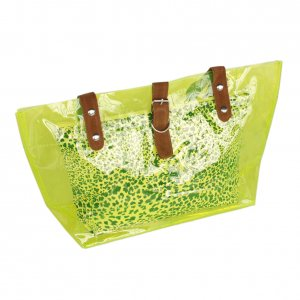 FB-ZL618-GREEN[Lucky Green] Leopard Double Handle Leatherette Satchel Bag Handbag Casual Styling