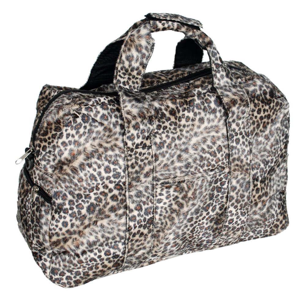 FB-ZY157-COFFEE[Sexy Wild] Leopard Double Handle Satchel Handbag Toe Bag w/Shoulder Strap