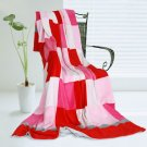 ONITIVA-BLK-027 [Plaids - Hoodwinked] Soft Coral Fleece Patchwork Throw Blanket (59 by 78.7 inches)