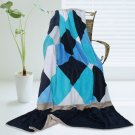 ONITIVA-BLK-032 [Plaids - Bliss] Soft Coral Fleece Patchwork Throw Blanket (59 by 78.7 inches)