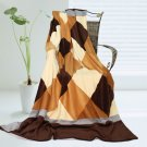 ONITIVA-BLK-033 [Plaids - Traces of Dreams] Soft Coral Fleece Patchwork Throw Blanket (59 by 78.7 in