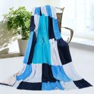 ONITIVA-BLK-036 [Fashion Life] Soft Coral Fleece Patchwork Throw Blanket (59 by 78.7 inches)