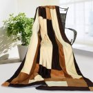 ONITIVA-BLK-044 [Fashion Match] Soft Coral Fleece Patchwork Throw Blanket (59 by 78.7 inches)