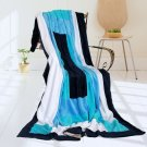 ONITIVA-BLK-056 [Wild Ocean] Soft Coral Fleece Patchwork Throw Blanket (59 by 78.7 inches)