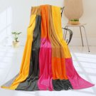 ONITIVA-BLK-058 [Flower Fairy] Soft Coral Fleece Patchwork Throw Blanket (59 by 78.7 inches)