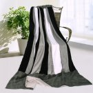 ONITIVA-BLK-071 [Dove Gray] Soft Coral Fleece Patchwork Throw Blanket (59 by 78.7 inches)