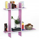 TRI-WS222-CRO-B [Love Song-B] Leather Cross Type Sheve / Book Shelve / Floating Shelve (4 pcs)