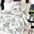 DDX01006-2 [Ivory Rose] 100% Cotton 4PC Comforter Cover/Duvet Cover Combo (Full Size)