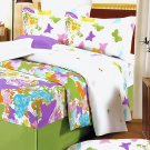 DDX01013-4 [Green Purple Butterflies] 100% Cotton 4PC Comforter Cover/Duvet Cover Combo (King Size)