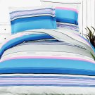 HM01004-4 [Bright Blue Sky] 100% Cotton 4PC Comforter Cover/Duvet Cover Combo (King Size)