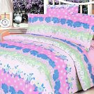 MF01011-3 [Pink Kaleidoscope] 100% Cotton 4PC Comforter Cover/Duvet Cover Combo (Queen Size)