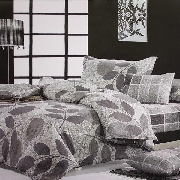 mf01062-1 [Elm Leaf] 100% Cotton 3PC Comforter Cover/Duvet Cover Combo (Twin Size)