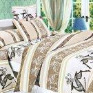 MH01004-4 [Beige Deer Totem] 100% Cotton 4PC Comforter Cover/Duvet Cover Combo (King Size)