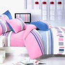 MH01013-4 [Pink Abstract] 100% Cotton 4PC Comforter Cover/Duvet Cover Combo (King Size)